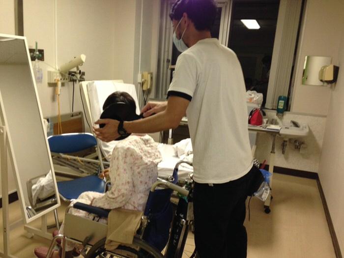 病院での出張・訪問カットの写真