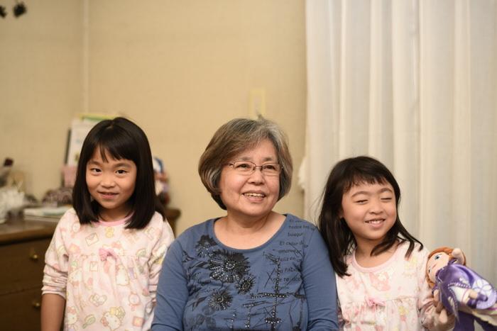家族での記念写真